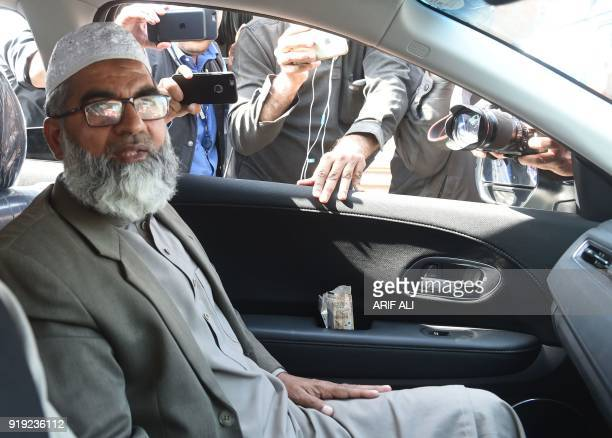 Ameen Ansari the father of sixyearold Zainab Fatima Ameen who was found raped and murdered leaves following the court verdict in Lahore on February...