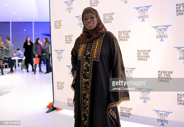 Ameena Matthews attends the 5th Annual Cinema Eye Honors for Nonfiction Filmmaking at the Museum of the Moving Image on January 11 2012 in the Queens...