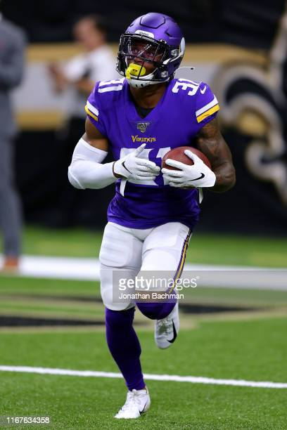 Ameer Abdullah of the Minnesota Vikings during a preseason game at the Mercedes Benz Superdome on August 09, 2019 in New Orleans, Louisiana.