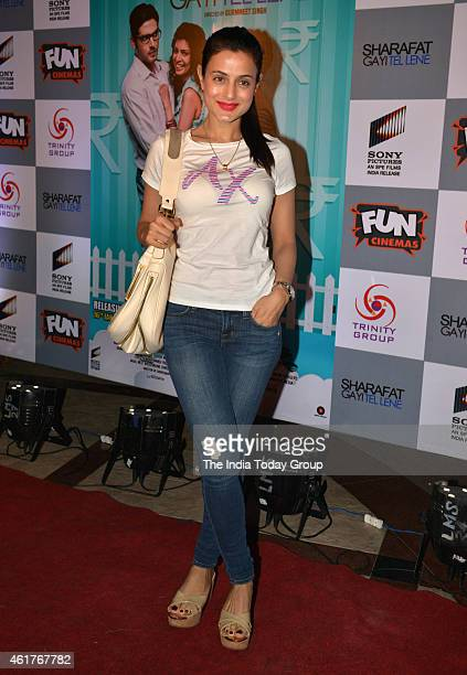 Ameesha Patel at the Screening of Sharafat gai tel lene in Mumbai