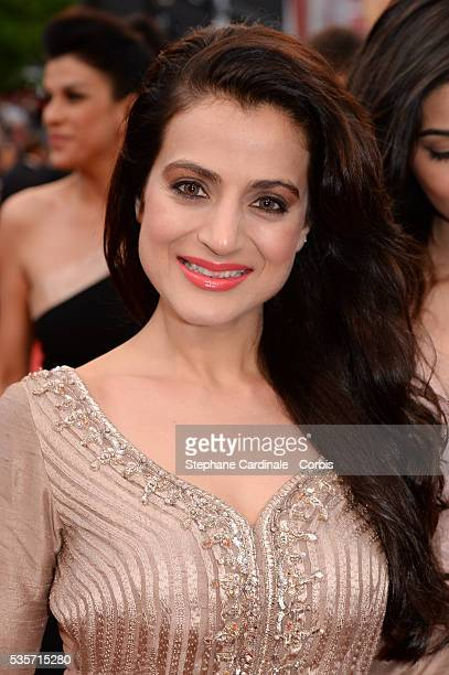 Ameesha Patel attends the 'All is Lost' premiere during the 66th Cannes International Film Festival