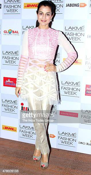 Ameesha Patel during the Lakme Fashion Week 2014 in Mumbai