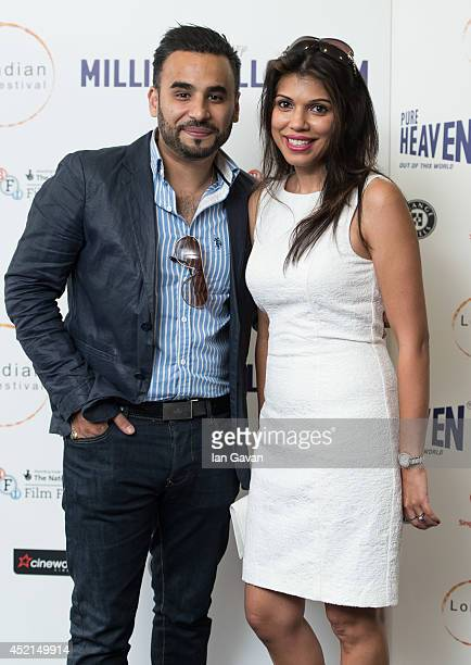"""Ameet Chana attends the UK Premiere of """"Million Dollar Arm"""" at Cineworld Shaftesbury Avenue on July 14, 2014 in London, England."""