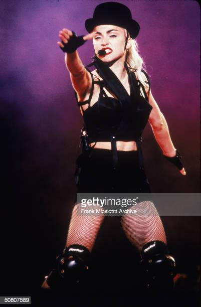 Ameican pop singer Madonna performs on stage in Osaka Japan April 1990