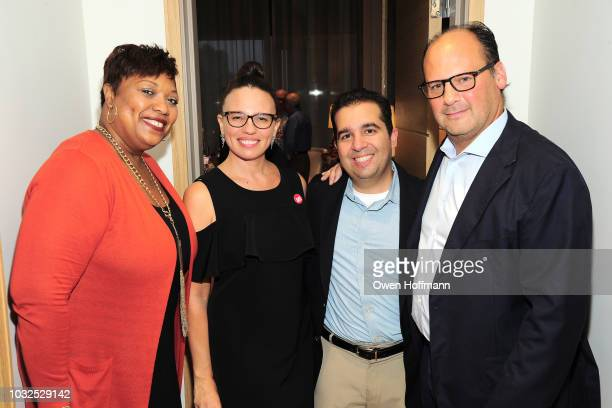 Ameil Sloley Adriana Pezzulli Sandy Santana and Lewis Tepper attend SSY Shopping Benefit For Children's Rights on September 12 2018 in New York City