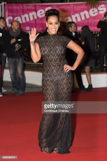 Amel Bent arrives at the 15th NRJ Music Awards at Palais des Festivals on December 14 2013 in Cannes France