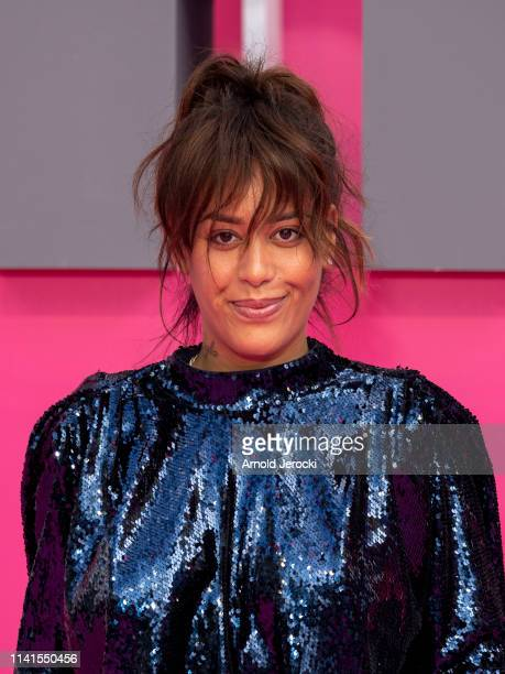 Amel Bent attends day five of the 2nd Canneseries International Series Festival on April 09 2019 in Cannes France