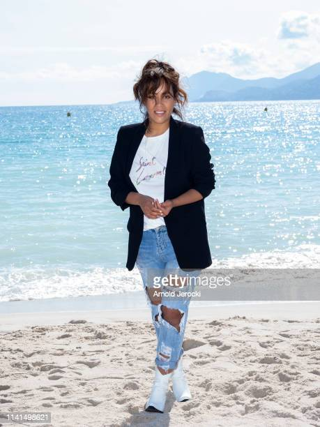 Amel Bent attends 'Kings' photocall on day five of the 2nd Canneseries International Series Festival on April 09 2019 in Cannes France