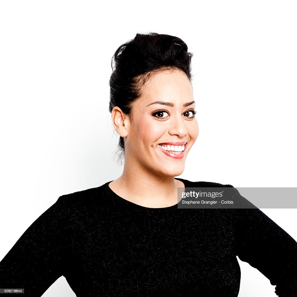 Amel Bent, Singer, photographed in Saint Denis in France ...