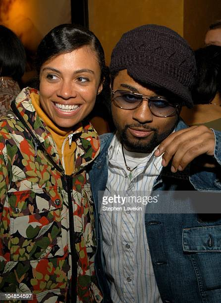 Amel Larrieux and Musiq during CocaCola Celebrates Nu Classic Soul Ad Campaign at Eugene in New York City NY United States