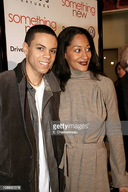 Amel Larrieux and Tracee Ellis Ross during Los Angeles Premiere of Focus Features' Something New at Cinerama Dome / Cabanna Club in Hollywood...