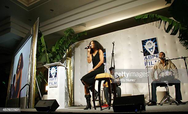 Amel Larrieux during 2006 ABFF Independent Film Awards July 23 2006 at RitzCarlton Hotel in Miami Florida United States