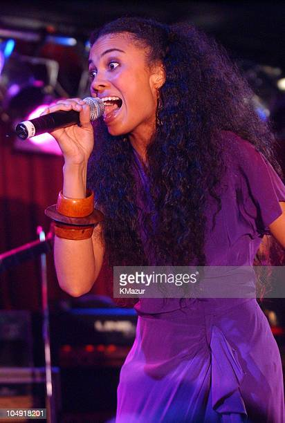 Amel Larrieux during Red Star Sounds Vol 1 Album Release Party at BB King Blues Club Grill in New York City New York United States