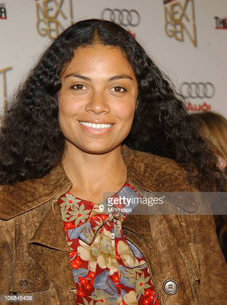 Amel Larrieux during The Hollywood Reporter's Next Generation Reception Presented by Audi Red Carpet in Los Angeles California United States