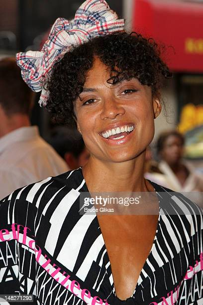 Amel Larrieux poses at 'Fela' on Broadway at The Hirshfeld Theater on July 12 2012 in New York City