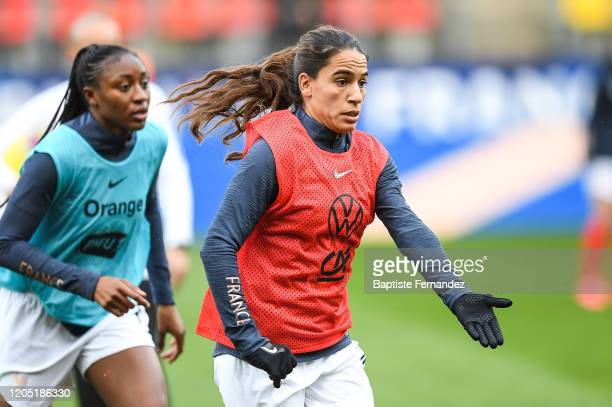 Amel MAJRI of France before the Tournoi de France International Women's soccer match between France and Canada on March 4 2020 in Calais France
