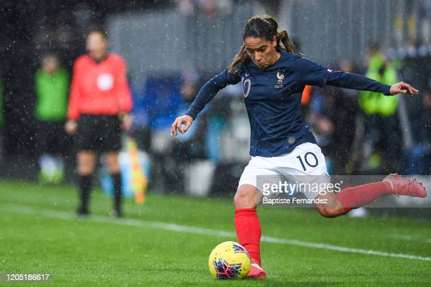 Amel MAJRI of France during the Tournoi de France International Women's soccer match between France and Canada on March 4 2020 in Calais France