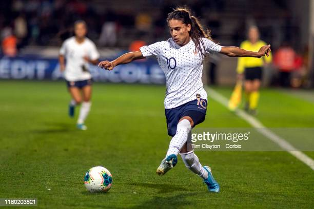 Amel Majri of France in a action during the France V Iceland Women's International Friendly match at Stade des Costières on October 4th 2019 Nimes...