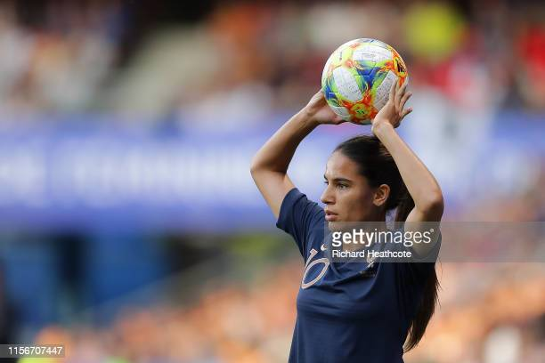 Amel Majri of France in action during the 2019 FIFA Women's World Cup France group A match between Nigeria and France at Roazhon Park on June 17 2019...
