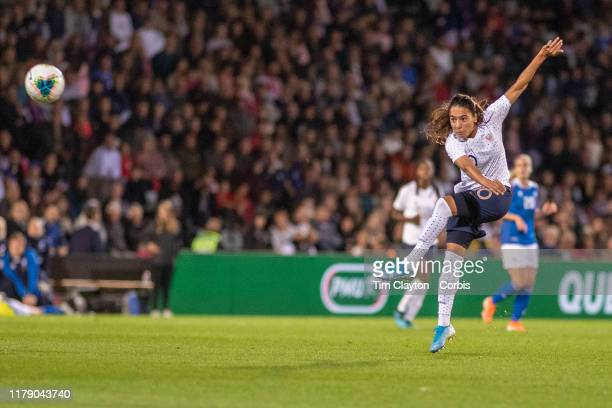 October 4: Amel Majri of France scores with a spectacular long range shot during the France V Iceland, Women's International Friendly match at Stade...