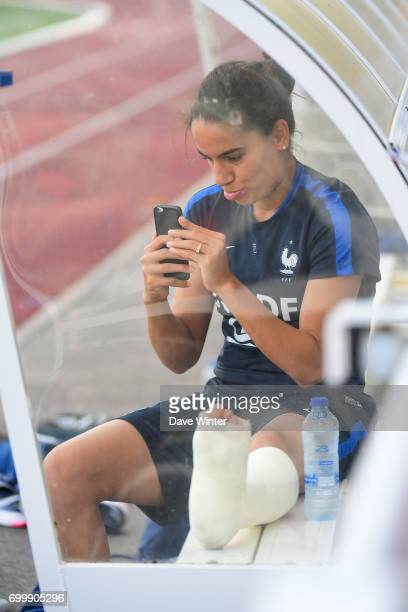 Amel Majri of France who injured herself on holiday and is now doubtful for the European Championships during the France women's training session at...