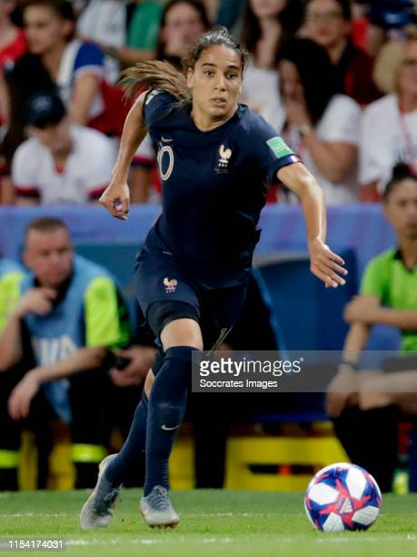 Amel Majri of France Women during the World Cup Women match between France v USA at the Parc des Princes on June 28 2019 in Paris France