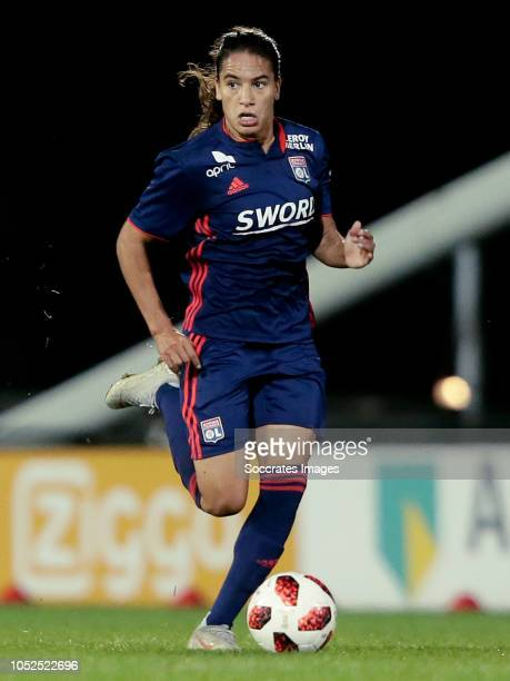 Amel Majri of Olympique Lyon Women during the match between Ajax v Olympique Lyon at the De Toekomst on October 17 2018 in Amsterdam Netherlands