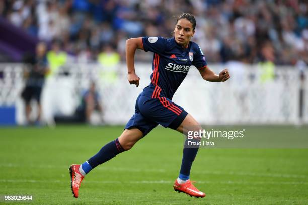 Amel Majri of Olympique Lyonnais in action during the UEFA Womens Champions League Final between VfL Wolfsburg and Olympique Lyonnais on May 24 2018...