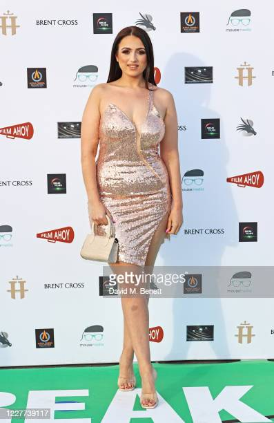Amel Rachedi attends the DriveIn World Premiere of Break at Brent Cross Shopping Centre on July 22 2020 in London England