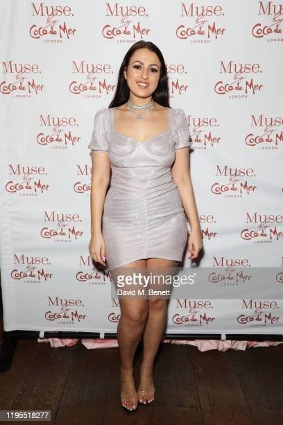Amel Rachedi attends the launch of Muse by Coco De Mer at Sketch on January 23 2020 in London England