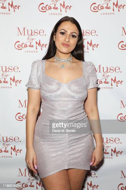 Amel Rachedi attends the launch of Muse by Coco De Mer at Sketch on January 23, 2020 in London, England.