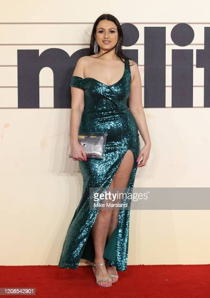 Amel Rachedi attends the Military Wives UK Premiere at Cineworld Leicester Square on February 24 2020 in London England