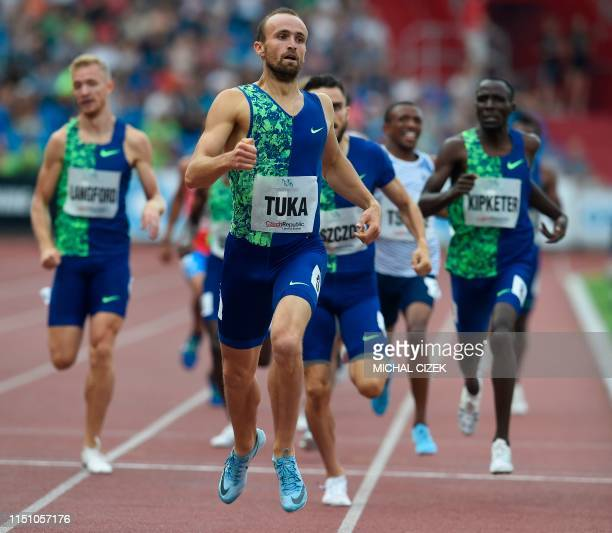 Amel Tuka of Bosnia and Herzegovina competes during the Men's 800m of IAAF Golden Spike 2019 Athletics meeting in Ostrava on June 20 2019