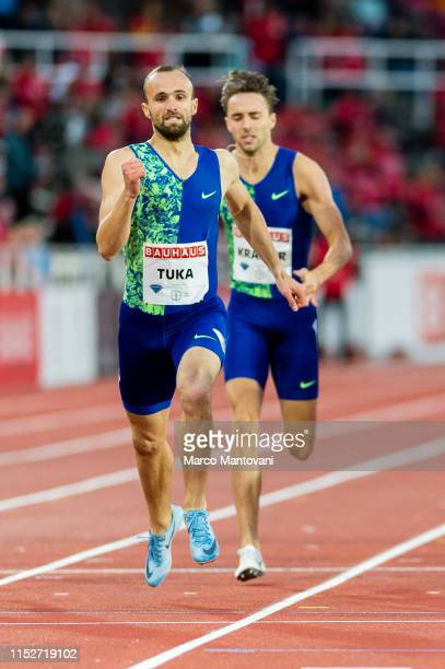Amel Tuka of Bosnia and Herzegovina competes in men's 800m during Stockholm 2019 Diamond League at Stockholms Olympiastadion on May 30 2019 in...