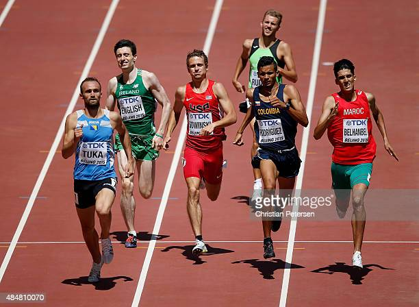 Amel Tuka of Bosnia and Herzegovina Mark English of Ireland Erik Sowinski of the United States Rafith Rodriguez of Colombia and Nader Belhanbel of...