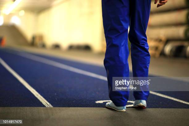 Amel Tuka of Bosnia and Herzegovina warms up ahead of the Men's 800m during day four of the 24th European Athletics Championships at Olympiastadion...