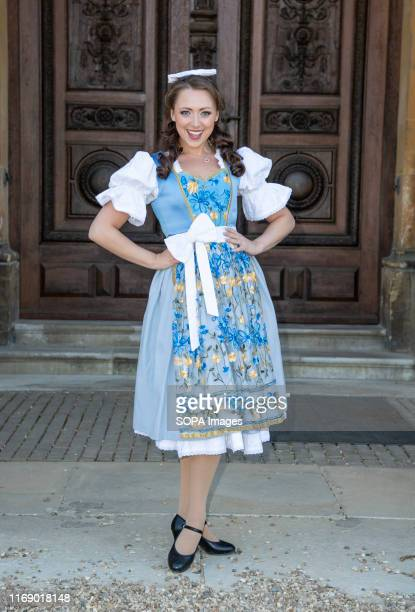 Amelia AdamsPearce attends the Beauty The Beast pantomime press launch at Waddesdon Manor Aylesbury