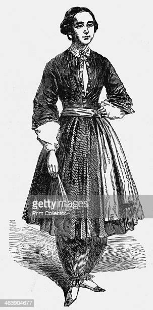 Amelia Bloomer American feminist and champion of dress reform 1869 Amelia Bloomer pictured wearing her new dress for women This was the original from...