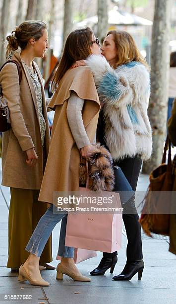 Amelia Bono and Ana Rodriguez are seen on March 14 2016 in Madrid Spain