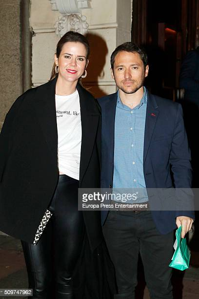 Amelia Bono and Manuel Martos are seen on February 11 2016 in Madrid Spain