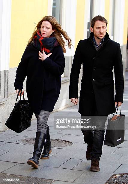 Amelia Bono and Manuel Martos are seen on February 18 2015 in Madrid Spain