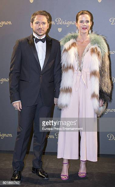 Amelia Bono and Manuel Martos attend Dom Perignon private dinner to present 2006 Dom Perignon Vintage on December 17 2015 in Madrid Spain