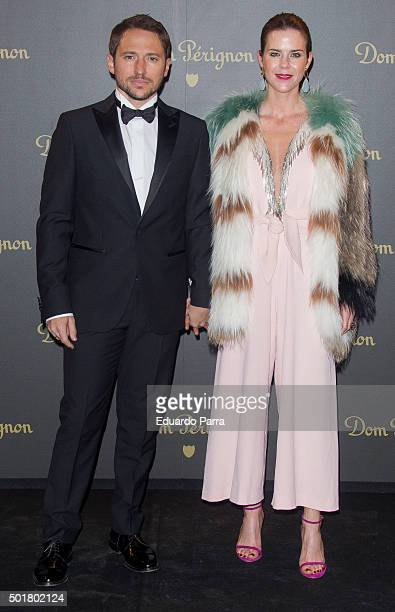 Amelia Bono and Manuel Martos attend Dom Perignon Vintage party photocall at Ortega Gasset 28 on December 17 2015 in Madrid Spain
