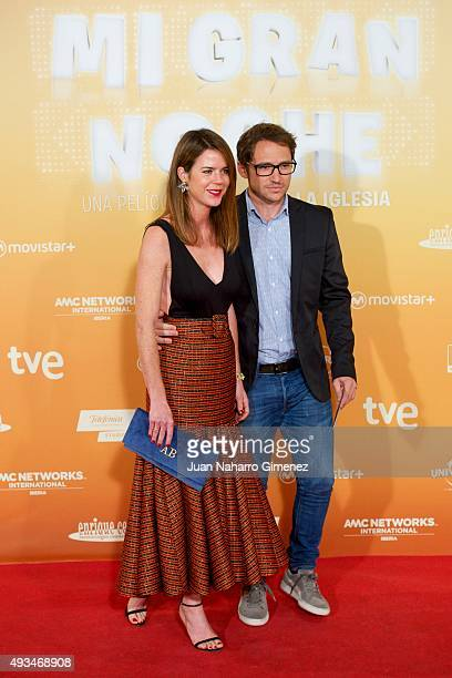 Amelia Bono and Manuel Martos attend 'Mi Gran Noche' premiere at Kinepolis Cinema on October 20 2015 in Madrid Spain
