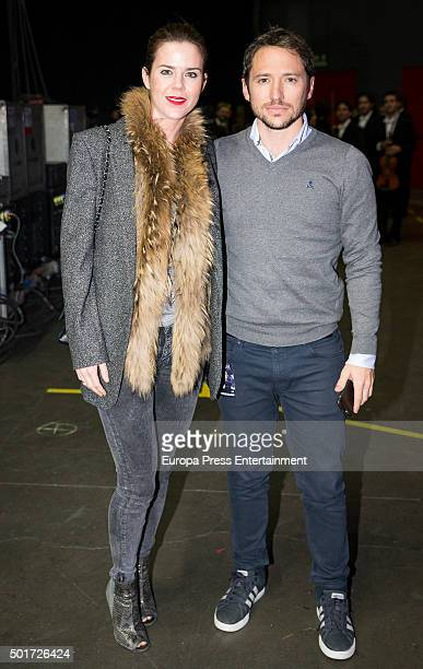 Amelia Bono and Manuel Martos attend Raphael concert on December 16 2015 in Madrid Spain
