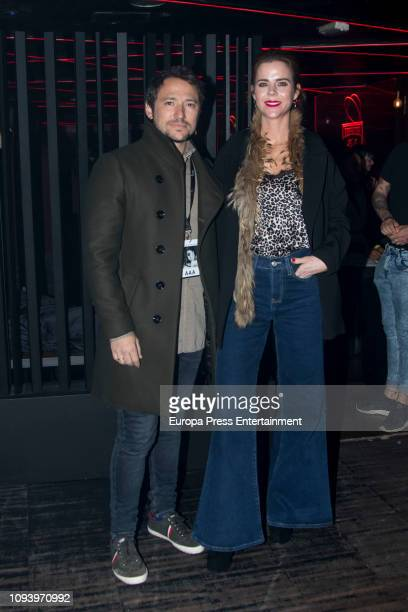 Amelia Bono and Manuel Martos attends the concert of Miriam Rodriguez at Sala But on January 11 2019 in Madrid Spain