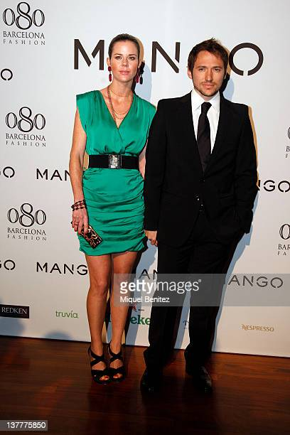 Amelia Bono and Manuel Martos Figueroa attend the Mango fashion show as part of the 080 BCN Fashion Week Fall/Winter 20122013 show on January 26 2012...