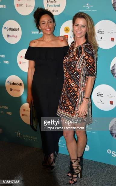 Amelia Bono and Patricia Perez attend David Bisbal concert at the Royal Theatre on July 26 2017 in Madrid Spain