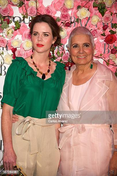 """Amelia Bono and Rosa Oriol attend the presentation of the new fragance """"Rosa"""" at the Ritz Hotel on April 23, 2013 in Madrid, Spain."""