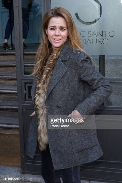 Amelia Bono arrives at 'The Petite Special Day' fashion show at the Santo Mauro Hotel on January 31 2018 in Madrid Spain